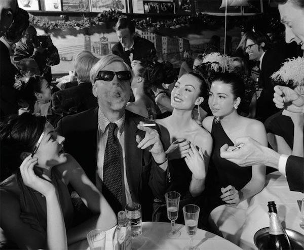 George Plimpton at Elaine's.